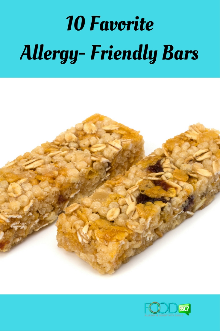 10 Favorite Allergy- Friendly Bars