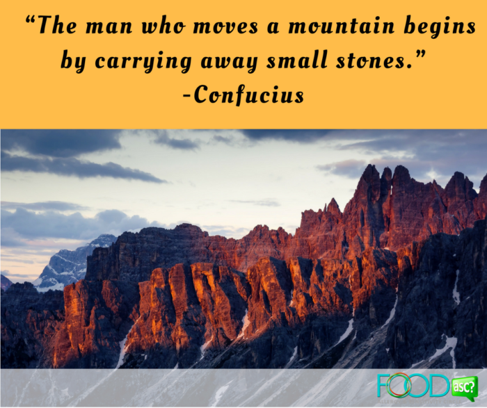 "3.  ""The man who moves a mountain begins by carrying away small stones."" -Confucius"