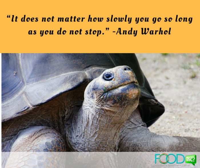 """It does not matter how slowly you go so long as you do not stop."" -Andy Warhol"