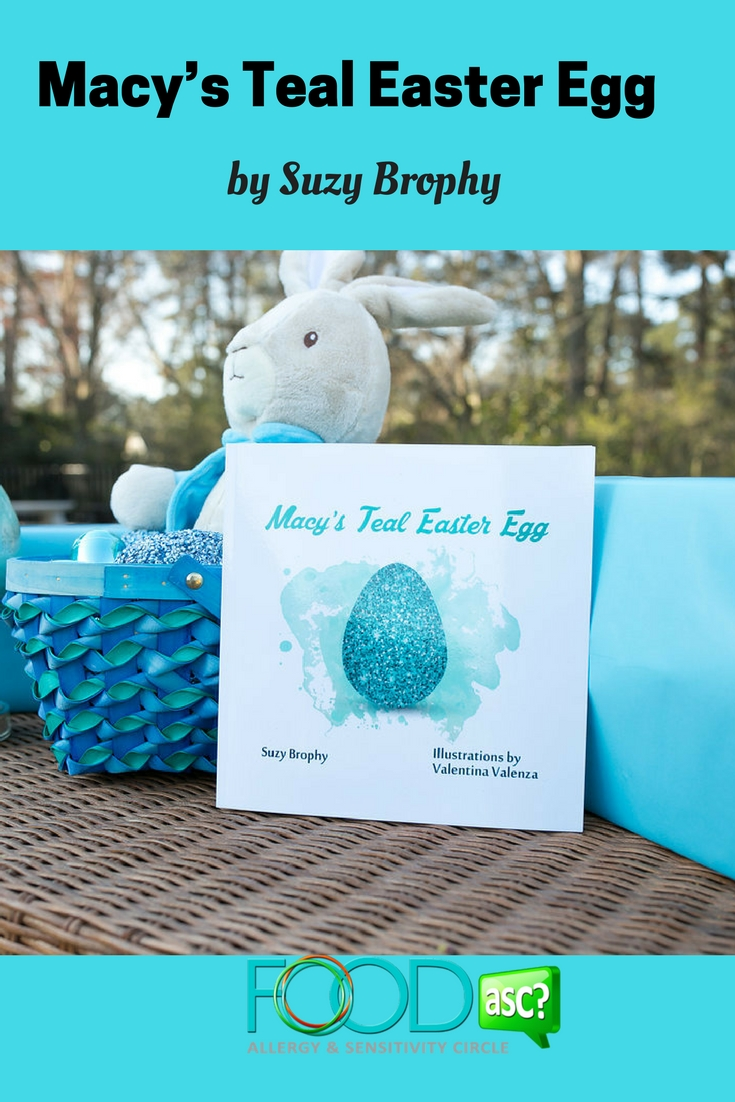 Macy's Teal Easter Egg  a book to