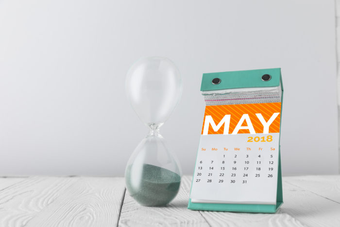 picture of a calendar opened to May